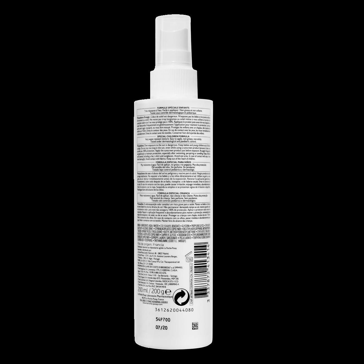 La Roche Posay Tuotesivu Aurinko Anthelios Dermo Pediatrics Spray  Spf50