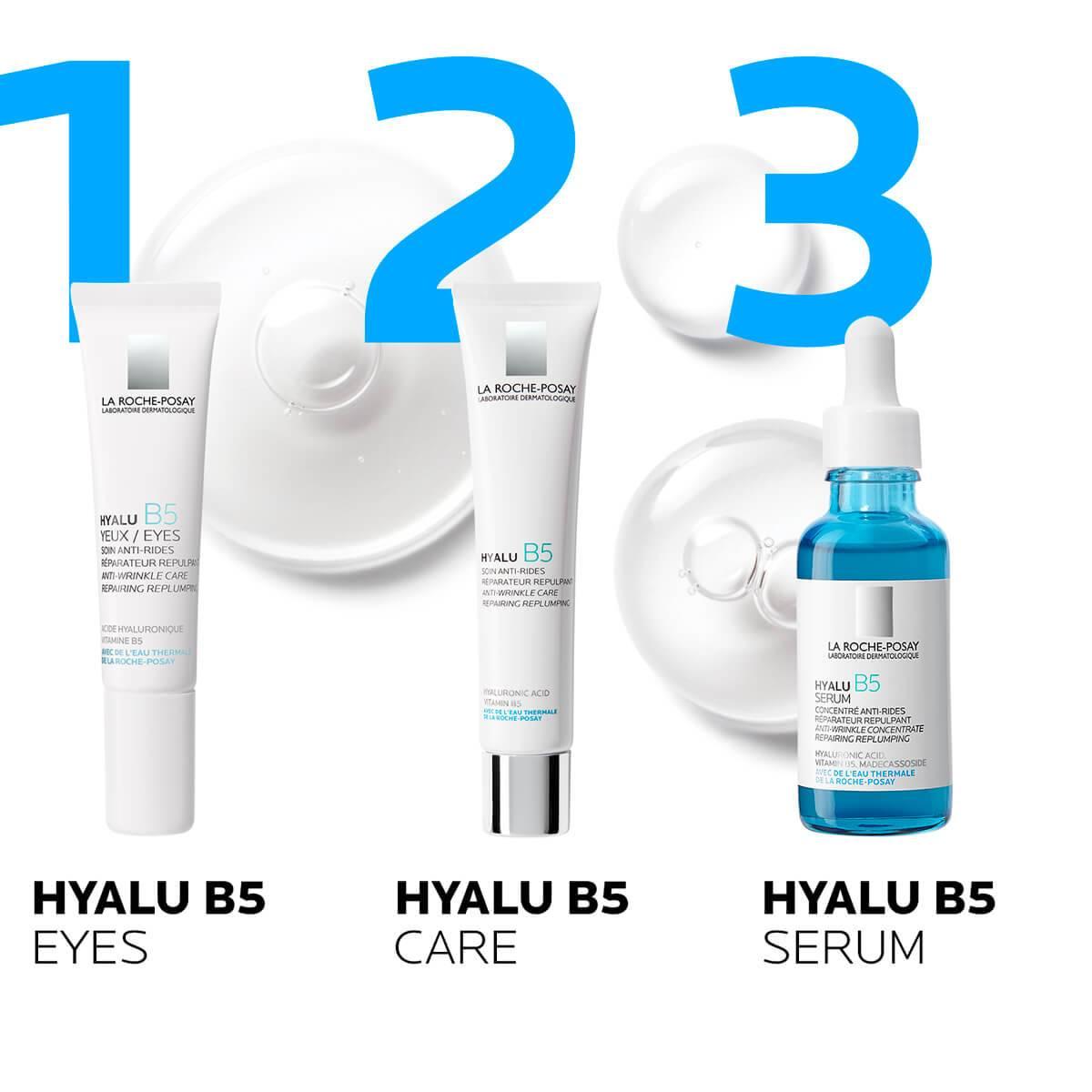 La Roche Posay Tuotesivu Ikääntymisen ehkäisy Hyalu B5 Serum 30ml 333787558362 routine