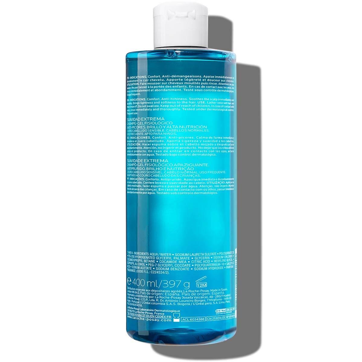 La Roche Posay Tuotesivu Kerium Extra Gentle Gel Shampoo 400ml 33378